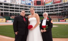 Mr. and Mrs. Comey Baseball Wedding 2