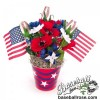 How to Make a Patriotic Centerpiece with Baseball Roses