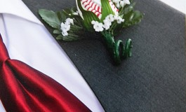 Clint's Baseball Rose Boutonniere for his Baseball Wedding