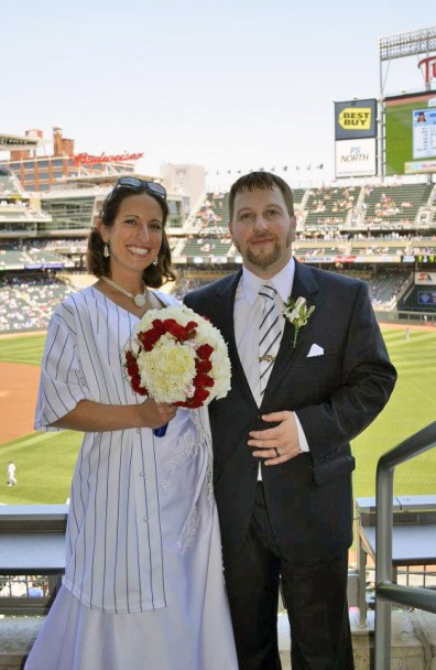 Baseball Wedding at Target Field