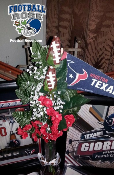 Houston Texans Football Rose Display