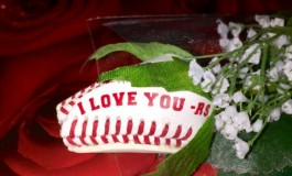 I Love You Baseball Rose