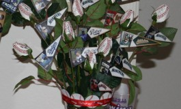 Autographing Baseball Roses at Spring Training