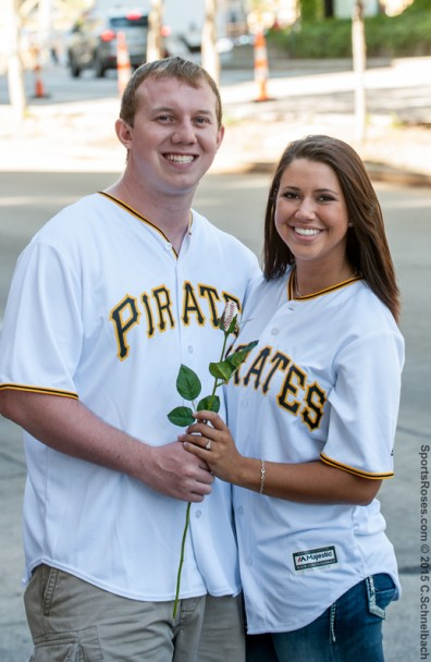 Sami & Jere's Baseball-Themed Engagement Photo