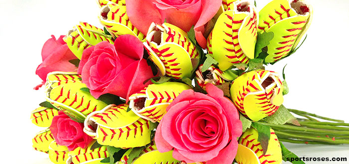 softball rose bouquet