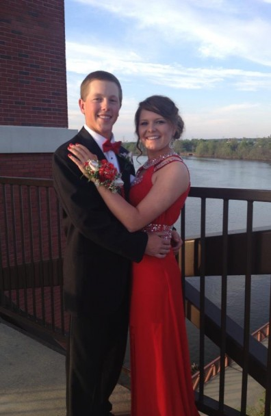 Prom 2013 with Baseball Roses
