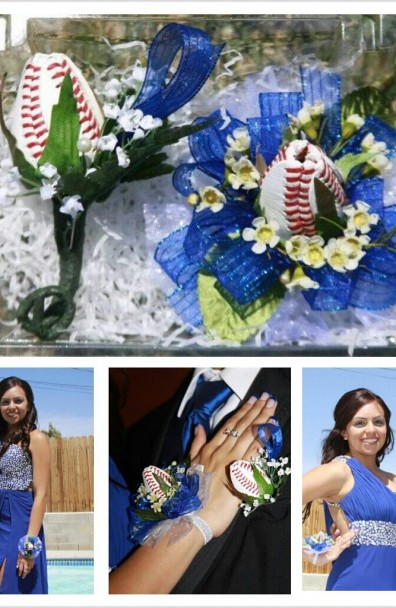 Dodgers and Baseball Roses – Prom 2013